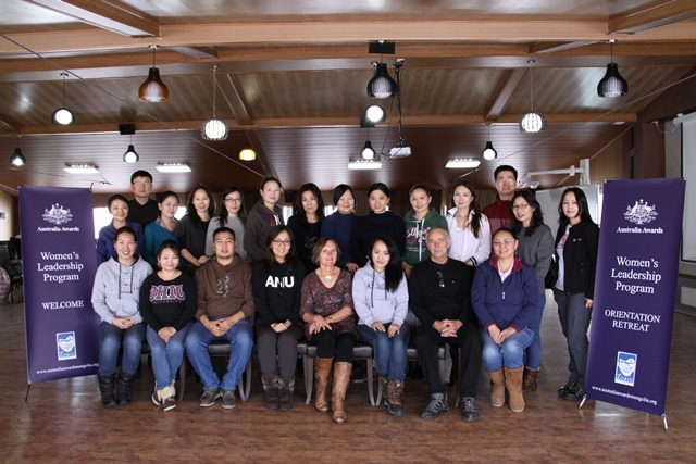 20 participants selected from talented graduates of Australia Awards Mongolia attending the second Women's Leadership Program (WLP) in December 2015.