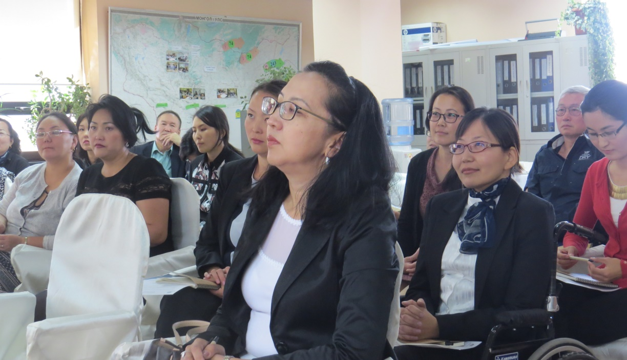 Australia Awards Mongolia Women's Leadership Program (WLP) participants attending forums and seminar workshops to improve their managerial and leadership skills January 2015.