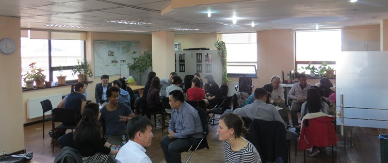 Attendees participating in the Australia Awards Mongolia Pre-Departure Briefing 2015 Semester II intake